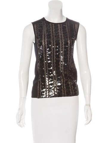 Tory Burch Wool Sequined Top None