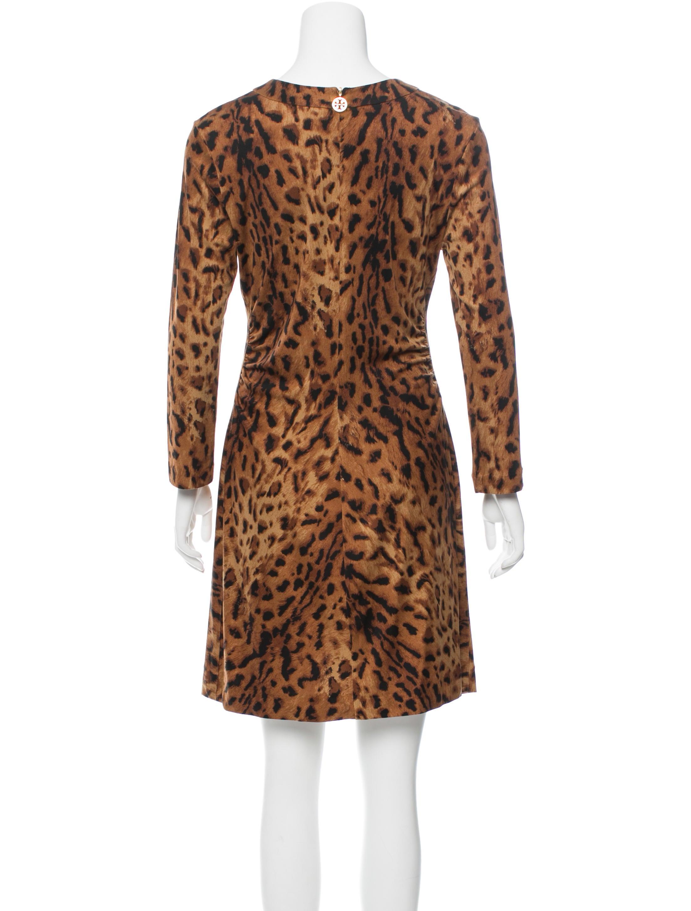 e1b0f195c401ef Tory Burch Silk Leopard Print Dress - Clothing - WTO89041