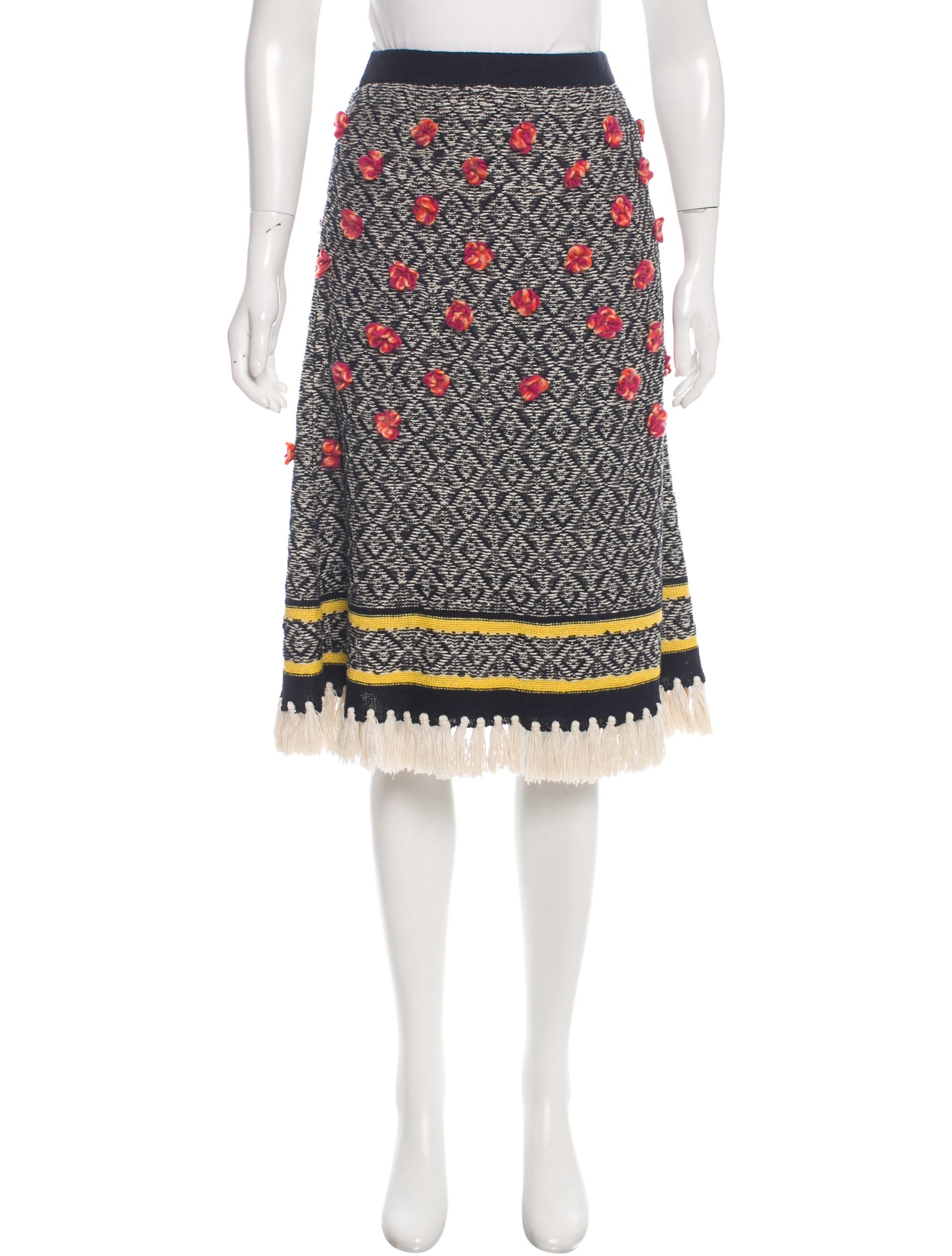 Tory Burch Knit Pencil Skirt - Clothing - WTO89239 The RealReal