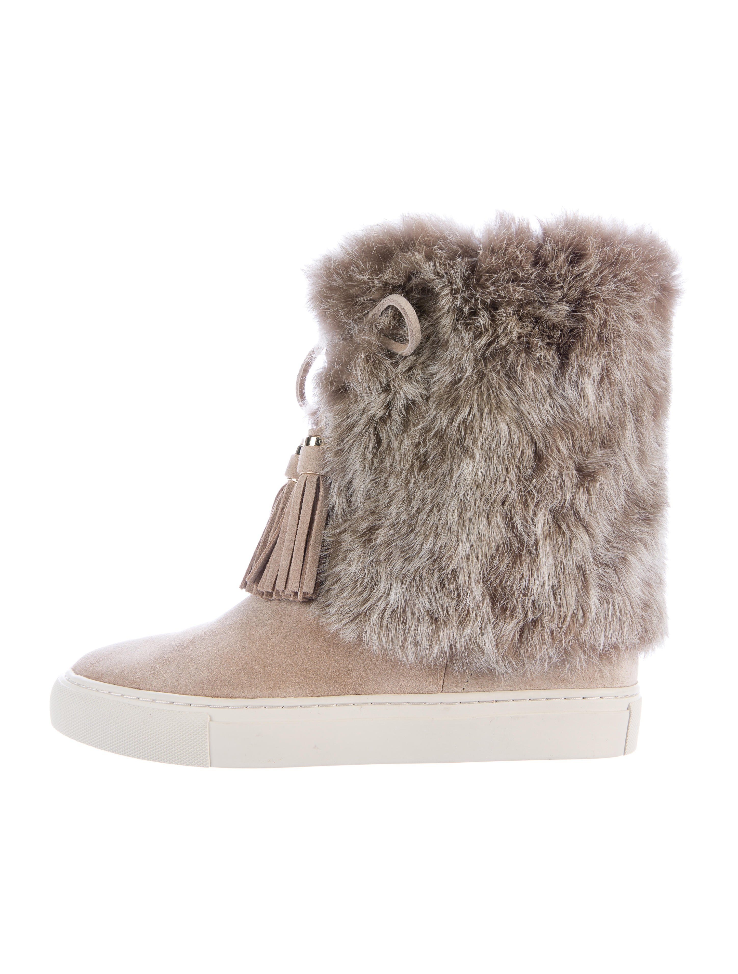 bf67d30d6eda Tory Burch Anjelica Fur-Trimmed Boots - Shoes - WTO89309
