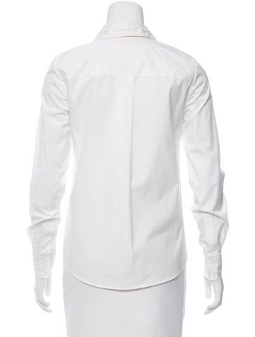 Embroidered Poplin Button-Up