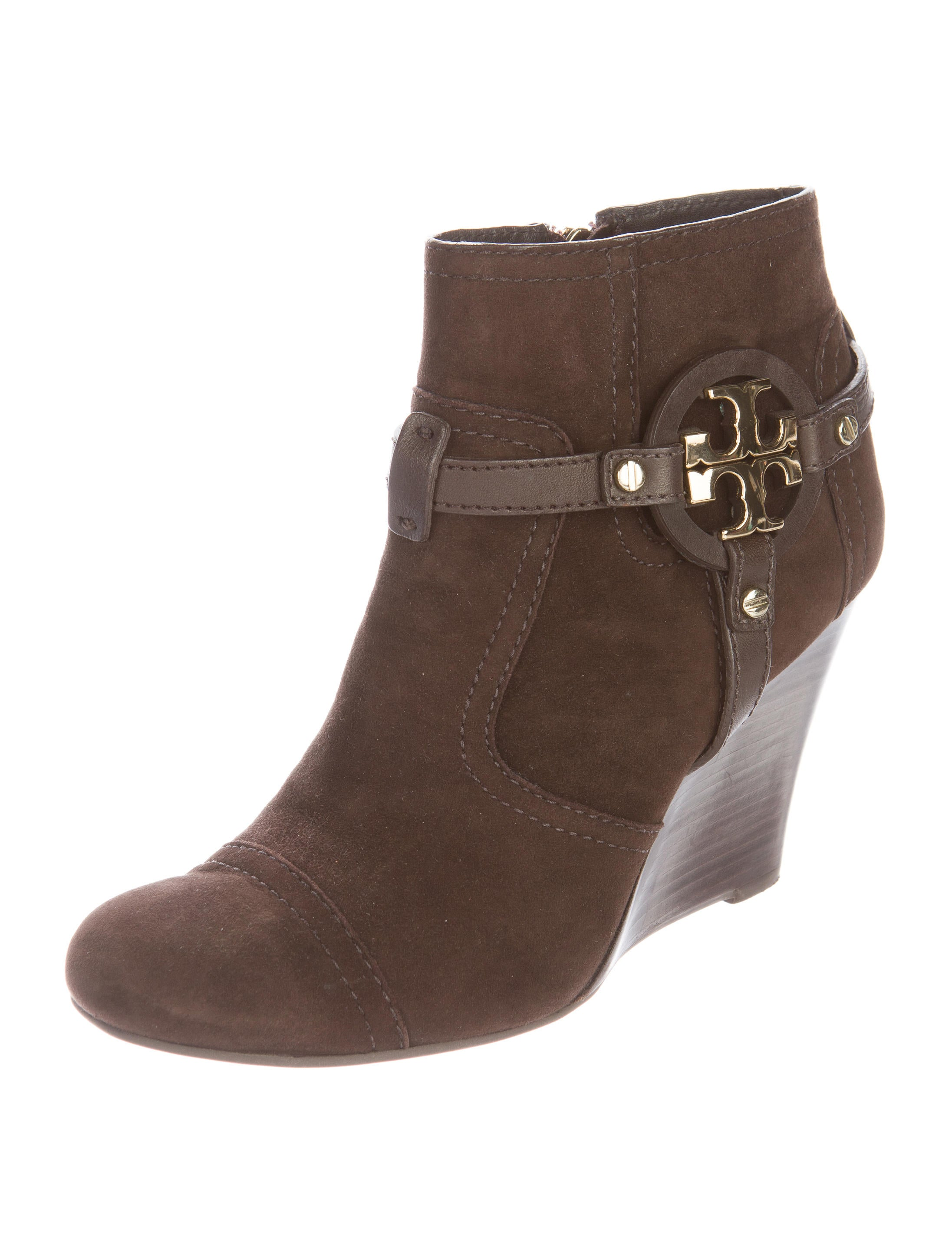 burch suede wedge boots shoes wto89898 the realreal