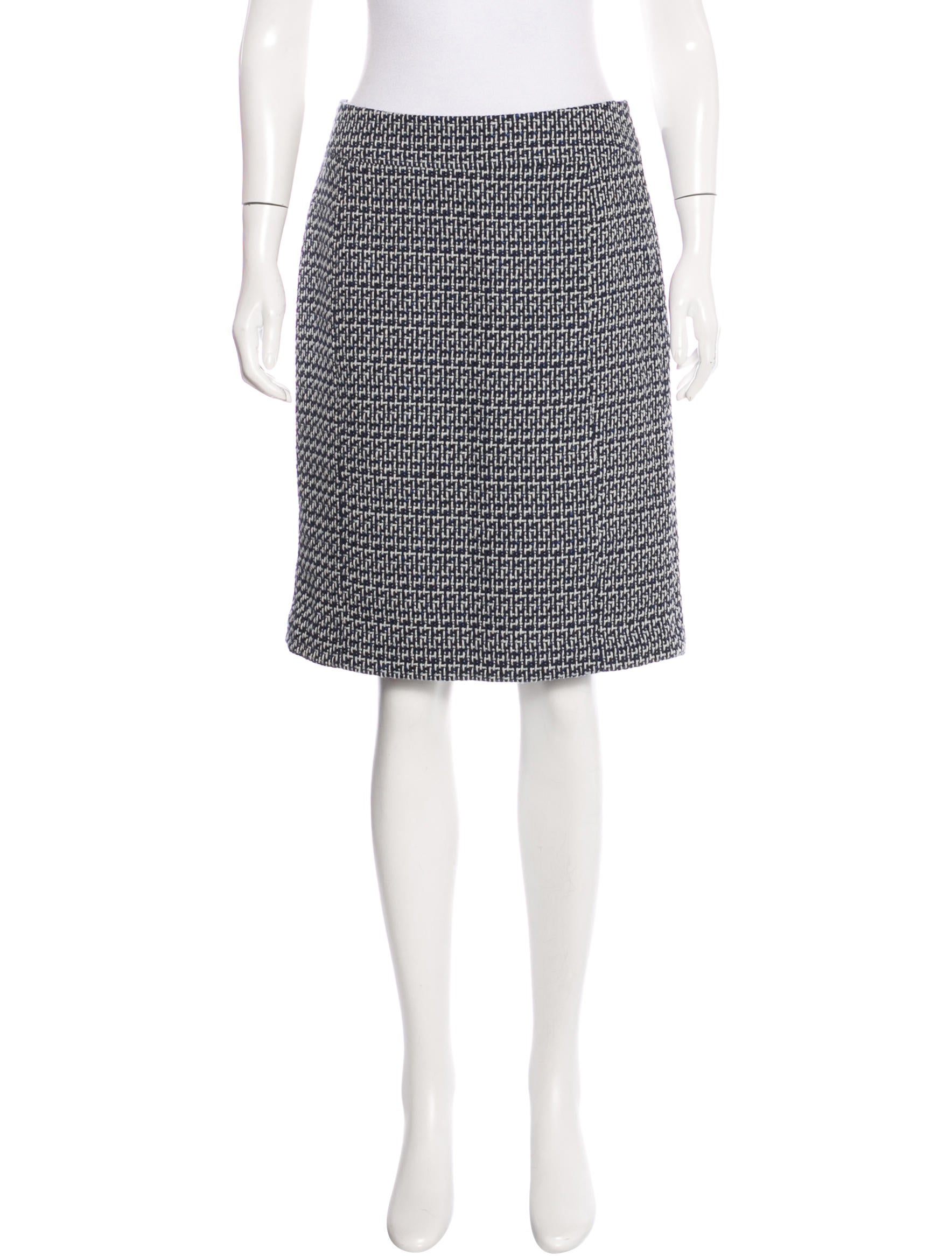 burch patterned knee length skirt clothing