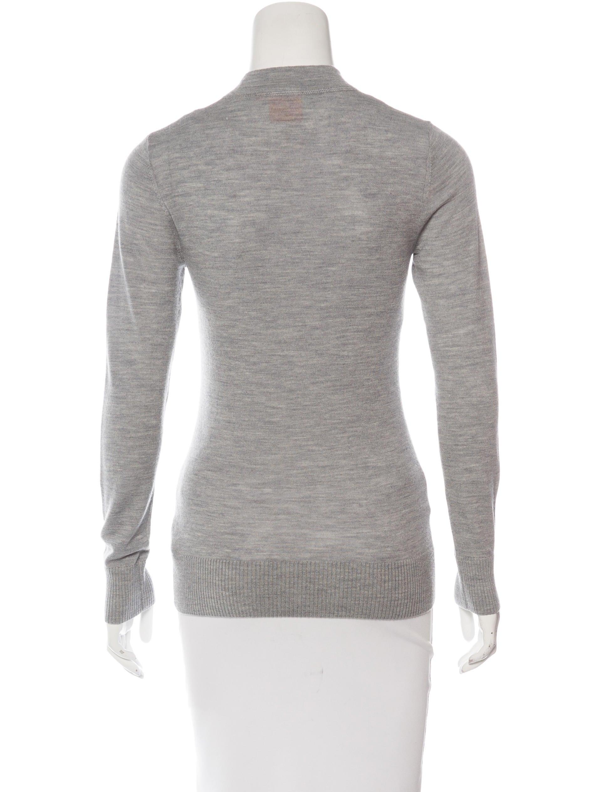 Tory burch merino wool long sleeve cardigan clothing for Merino wool shirt long sleeve
