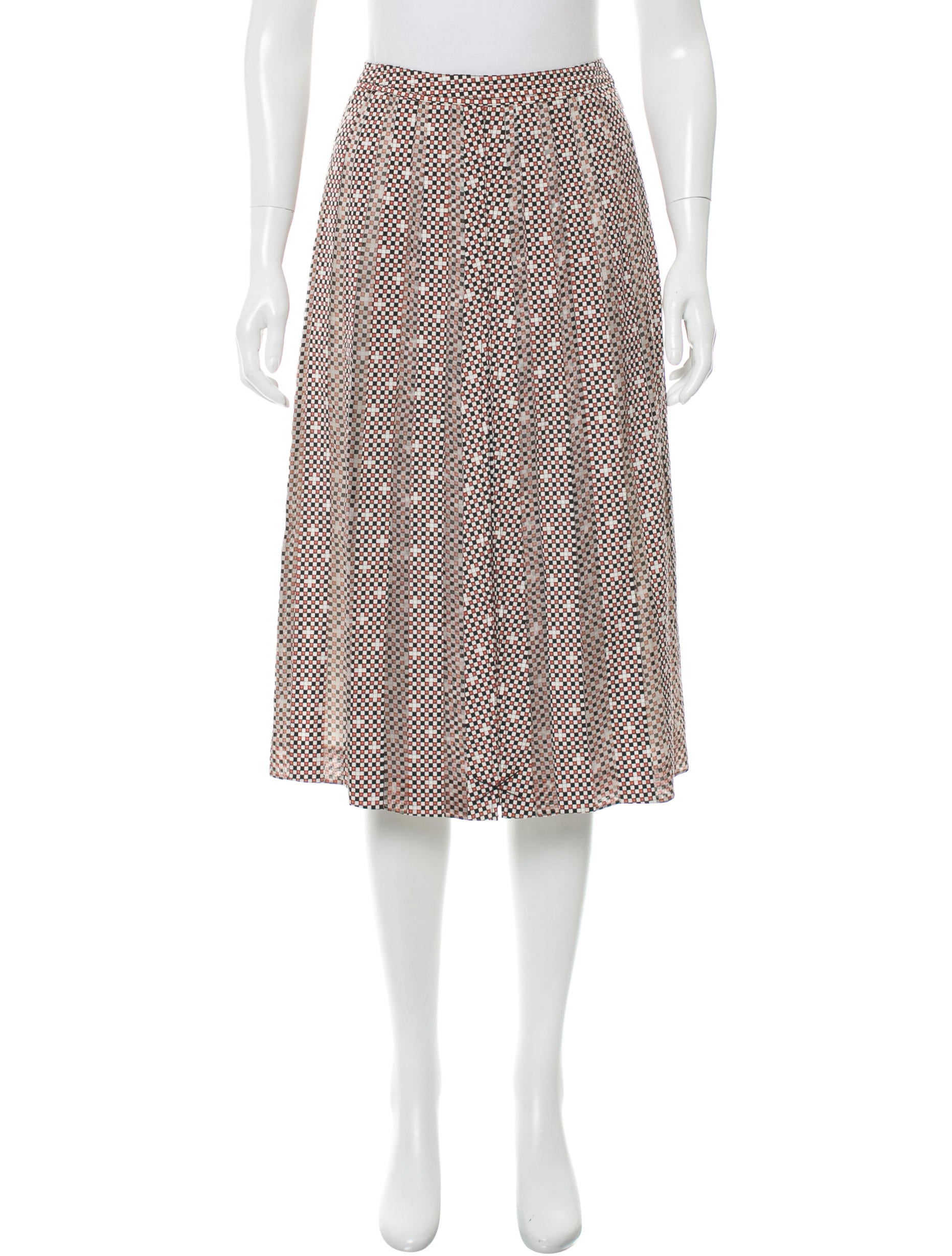 burch printed a line skirt clothing wto90146