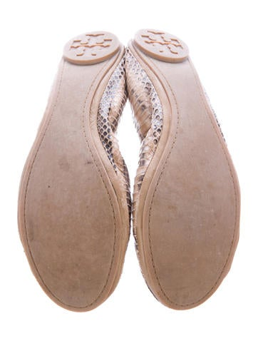 Embossed Leather Flats