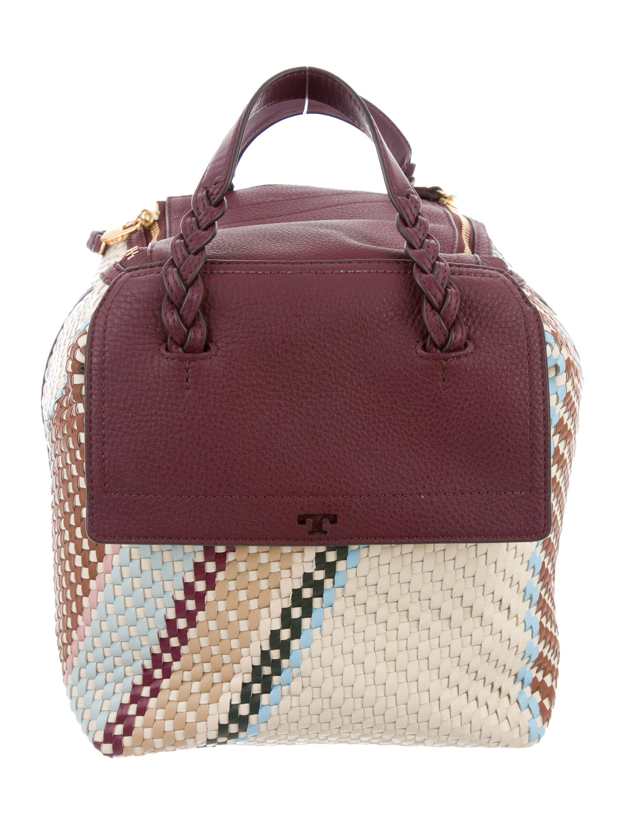 55ddebaf1df0 Tory Burch Half Moon Woven Mini Satchel w  Tags - Handbags ...