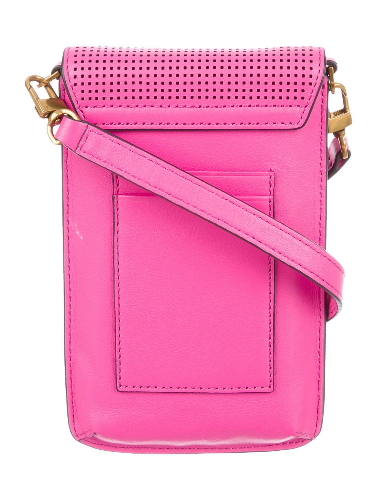 Tory Burch Perforated Phone Crossbody - Handbags
