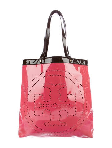 Tory Burch Patent Leather Logo Tote None