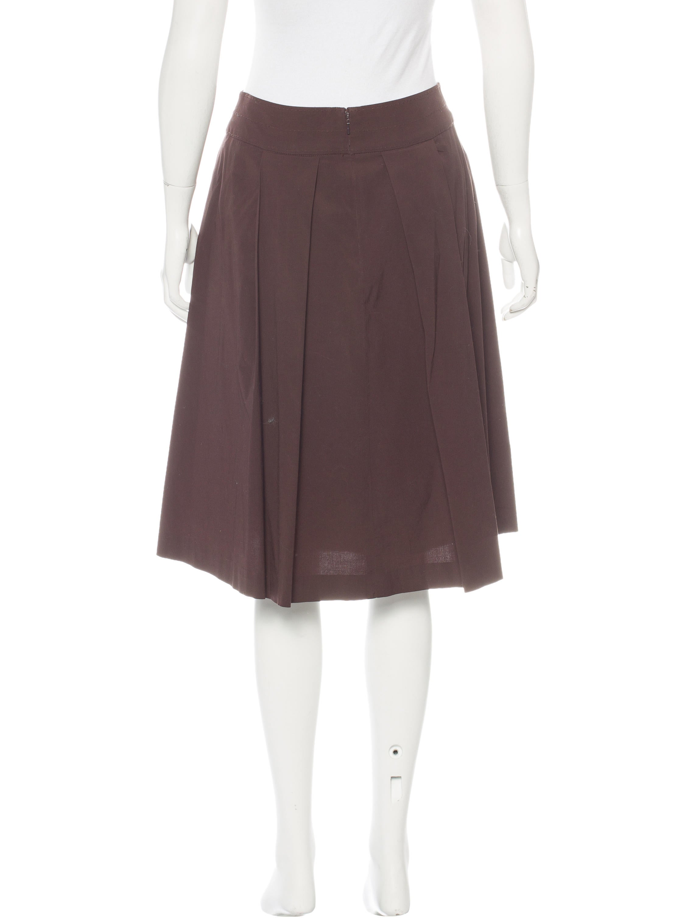 burch knee length a line skirt skirts wto91185