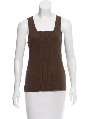 Tory Burch Sleeveless Pleated Top None