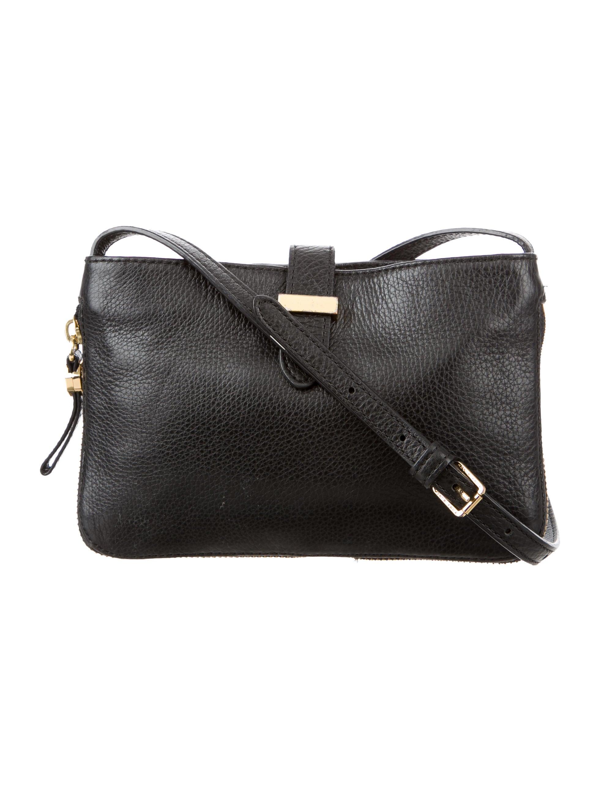 Black Pebbled Leather Crossbody Bag 17