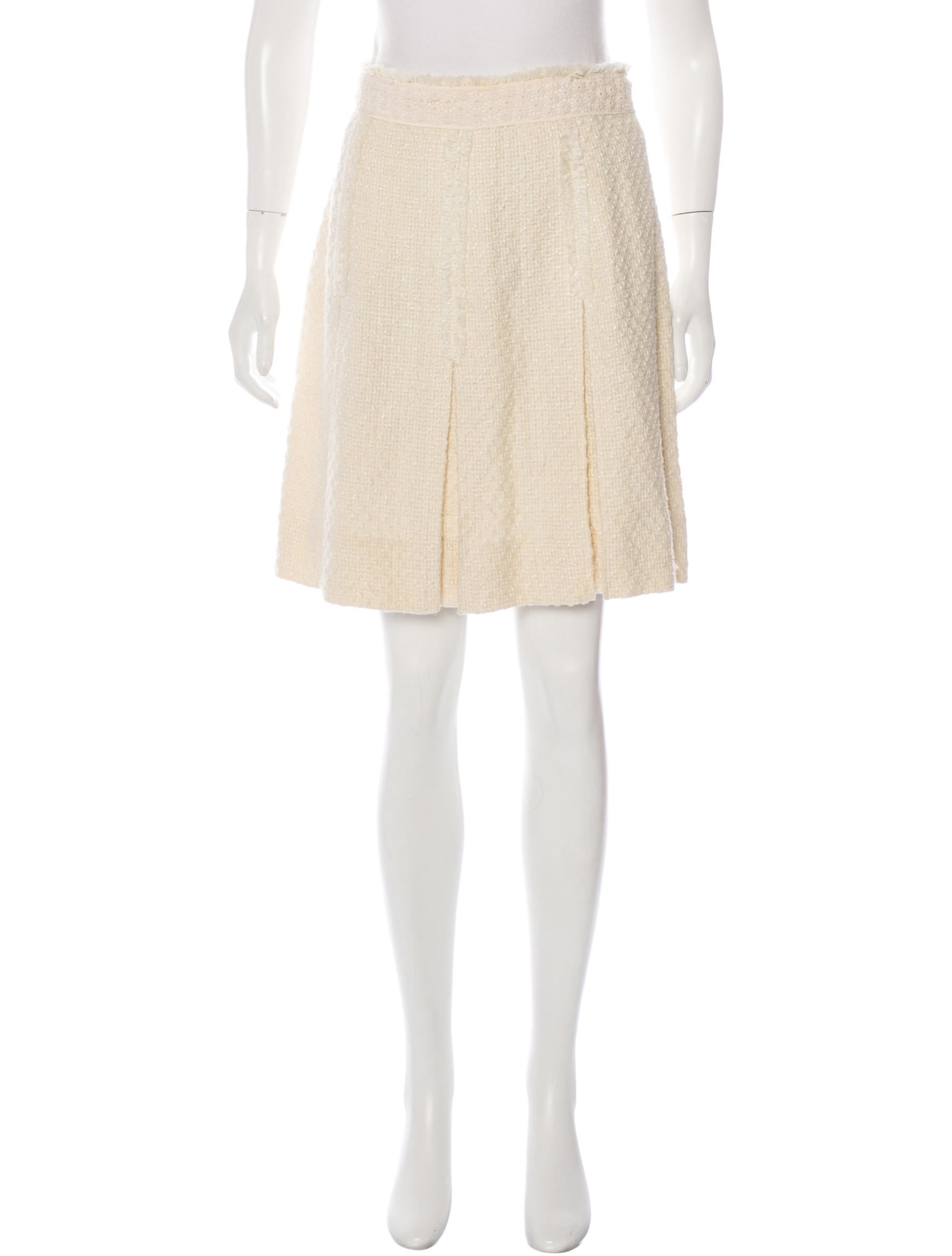 burch pleated tweed skirt clothing wto91420 the