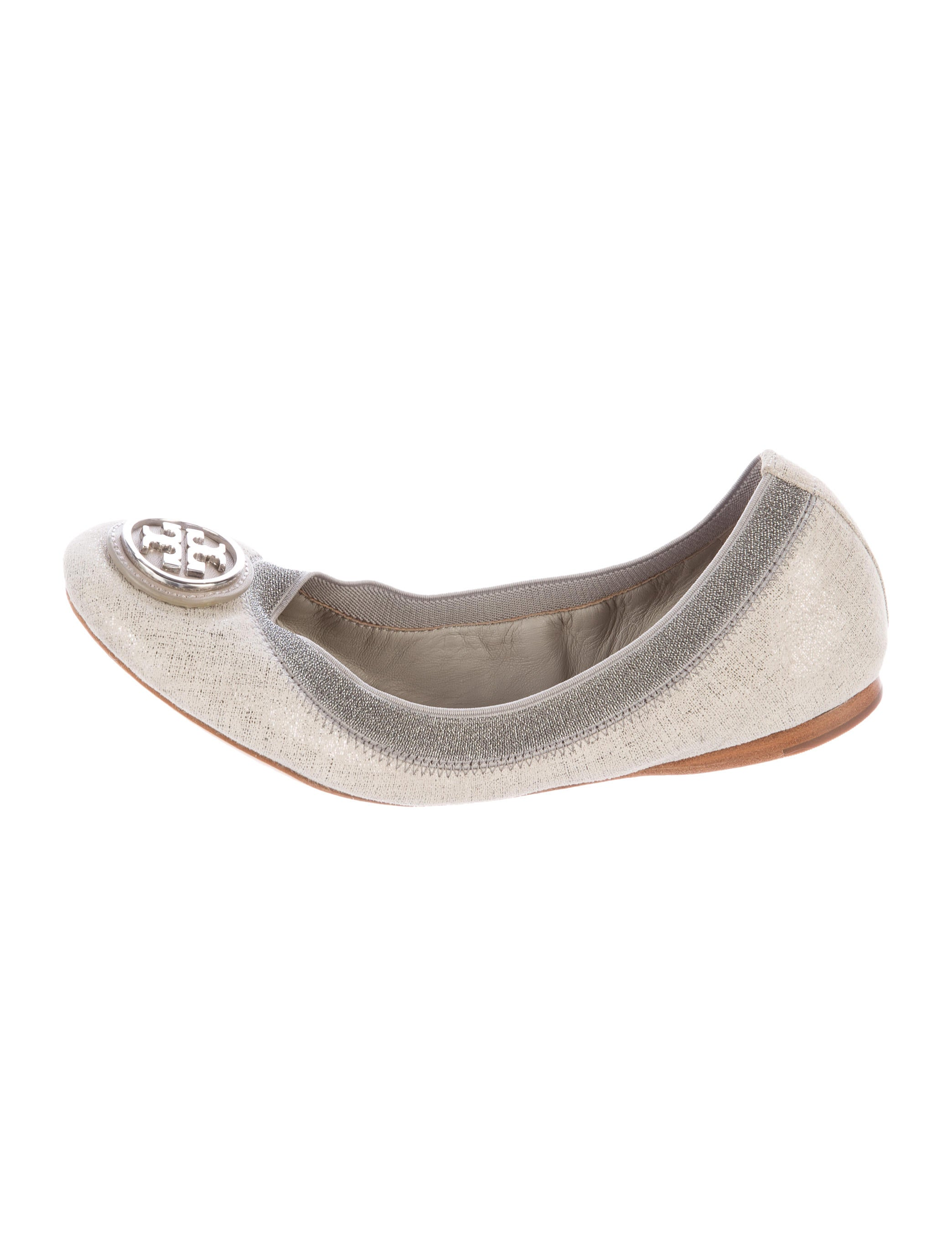 burch metallic canvas flats shoes wto91490 the