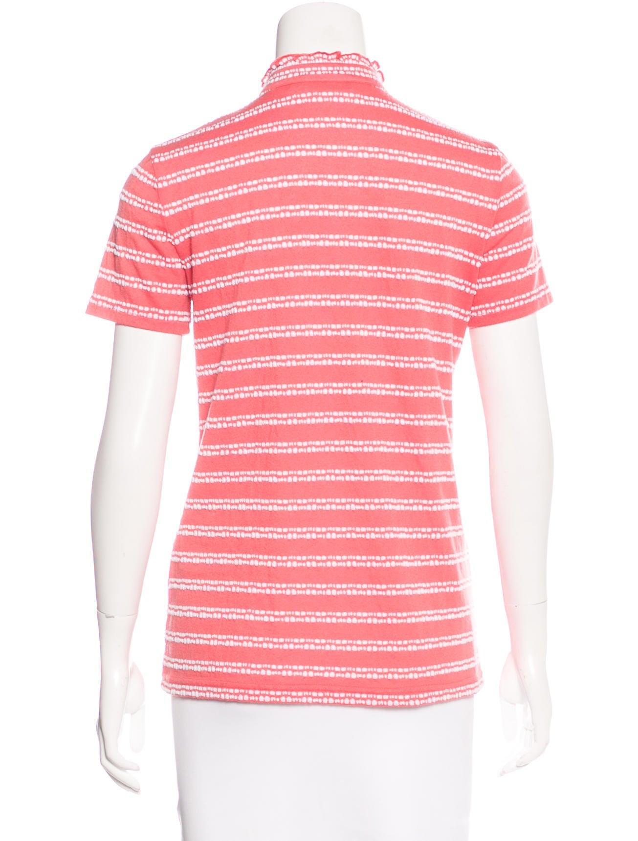 Tory Burch Ruffle Trimmed T Shirt Tops Wto91617 The