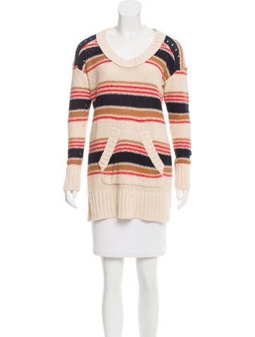 Tory Burch Striped Knit-Tunic None