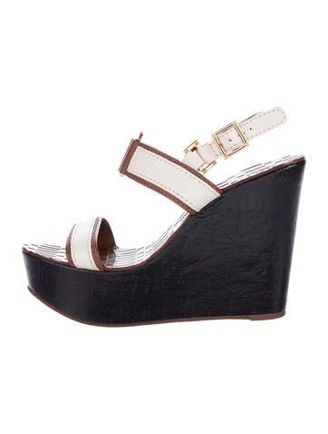 d4d52b4e7f1e Pollini Open Toe Wedge Sandals Farfetch
