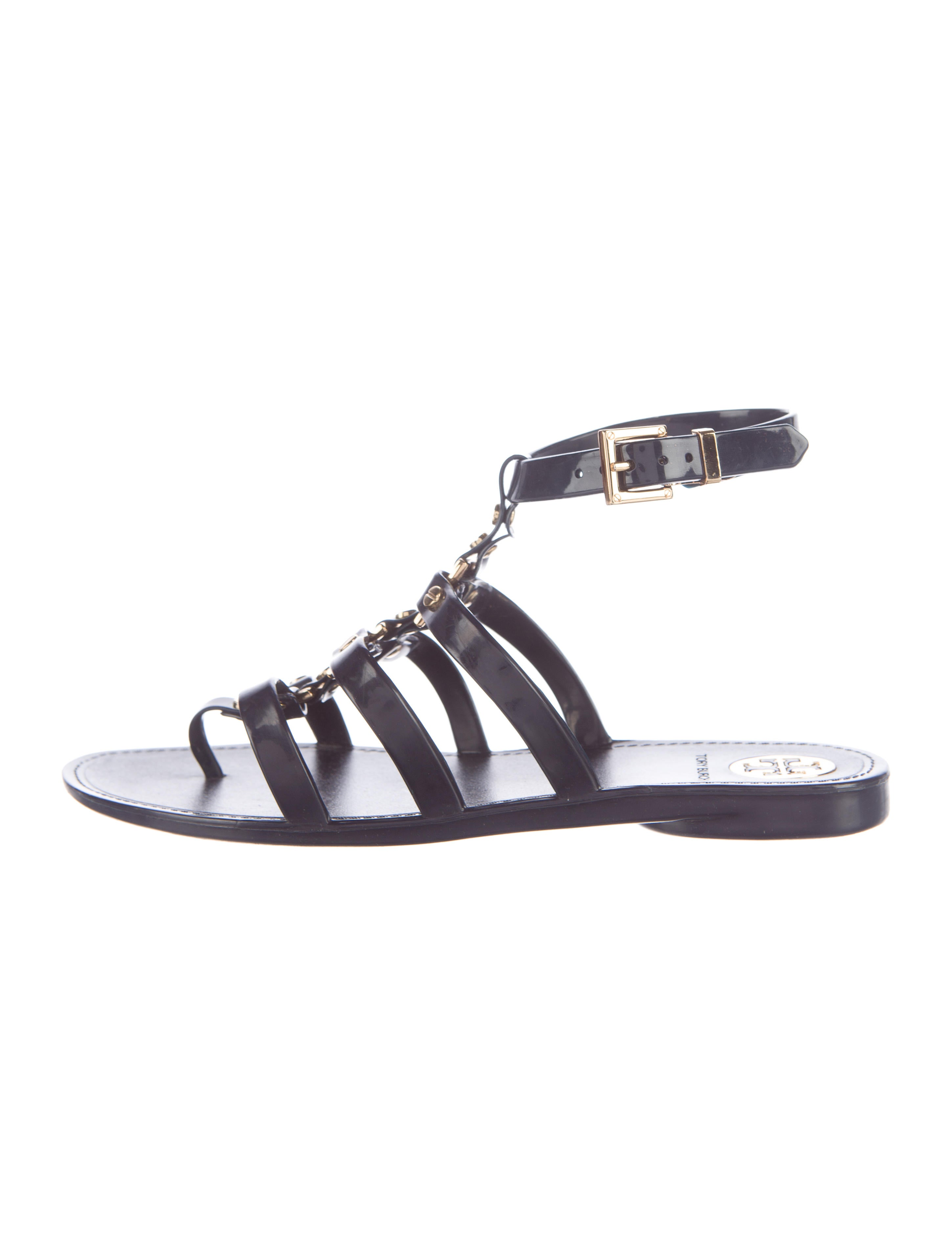 791cffe490a Tory Burch Patent Leather Gladiator Sandals - Shoes - WTO92009
