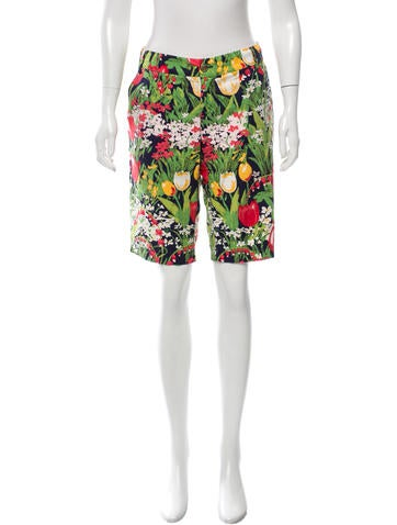 Tory Burch Floral Print Knee-Length Shorts None