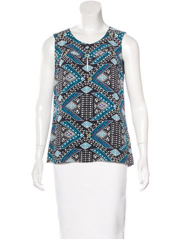 Tory Burch Abstract Print Silk Top None