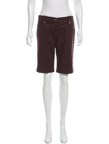 Tory Burch Low-Rise Knee-Length Shorts None