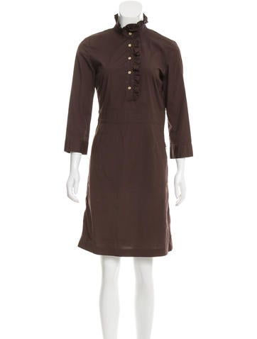 Tory Burch Long Sleeve Knee-Length Dress None