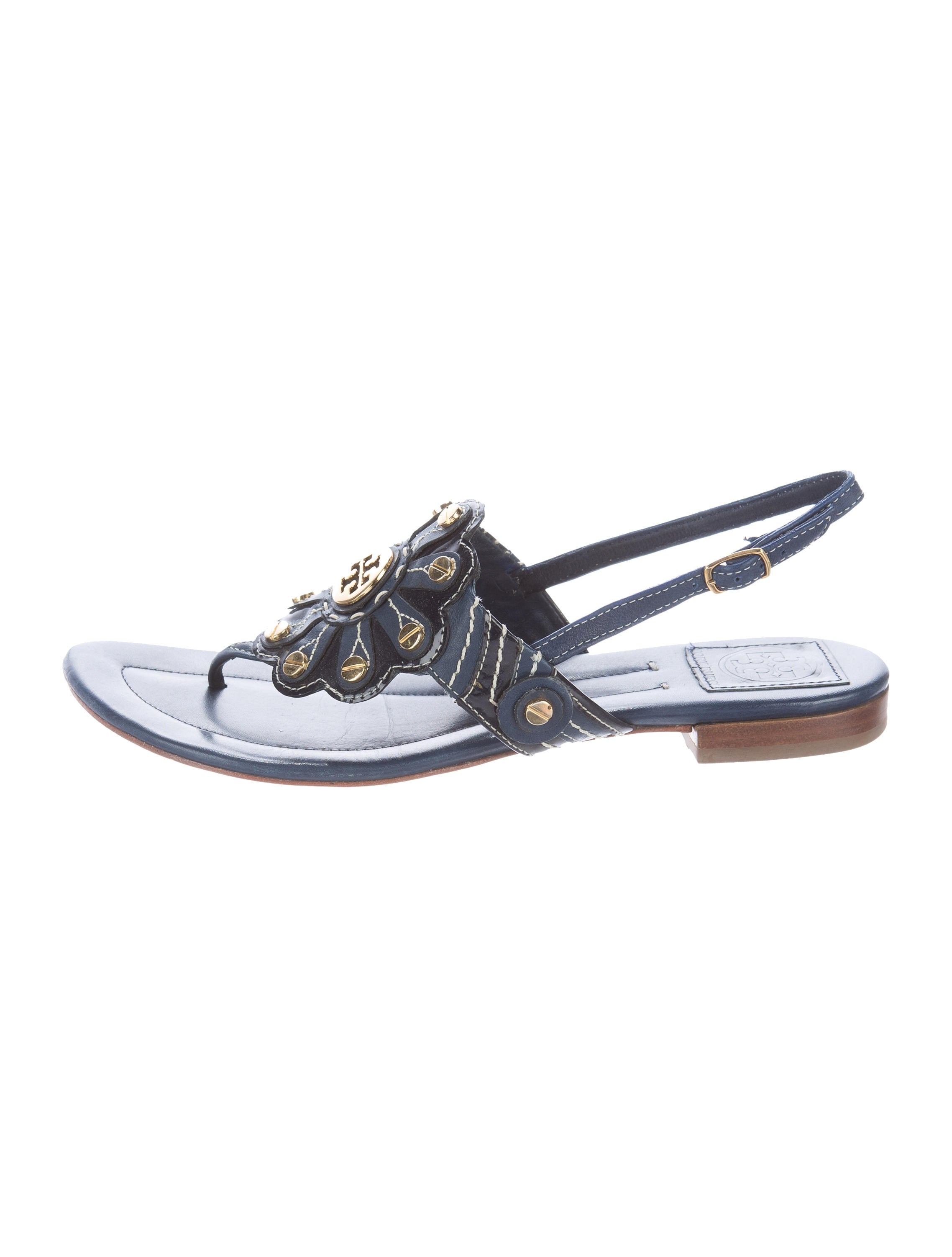 2e6186b423e39d Tory Burch Roma Logo-Embellished Sandals - Shoes - WTO93404
