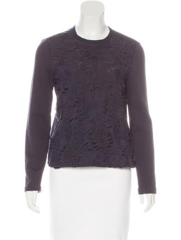 Tory Burch Floral Embroidered Sweater None