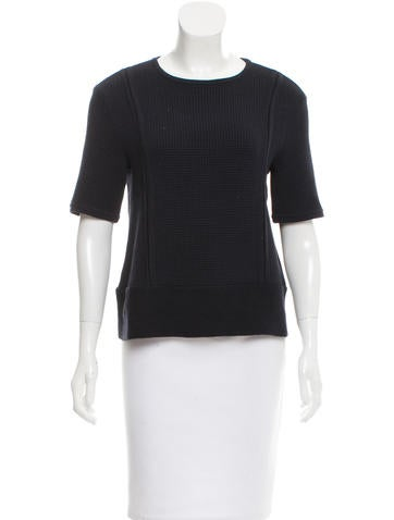 Tory Burch Knit Short Sleeve Top None