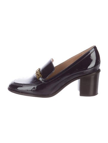 Tory Burch Patent Leather Loafers None