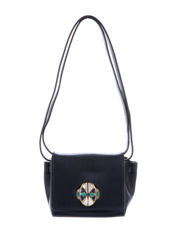 Tory Burch Embellished Leather Shoulder Bag None