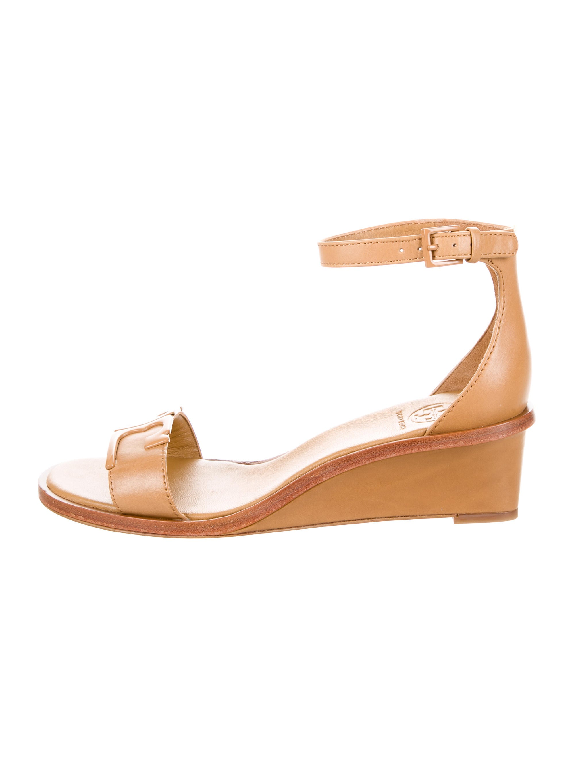 cheap comfortable Tory Burch Logo Wedge Sandals w/ Tags pictures sale online exclusive for sale 1wBHEt