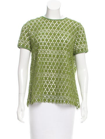 Tory Burch Pleated Lace Top None