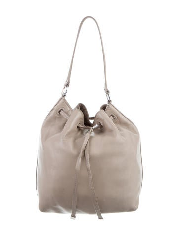 Tory Burch Leather Drawstring Bag None