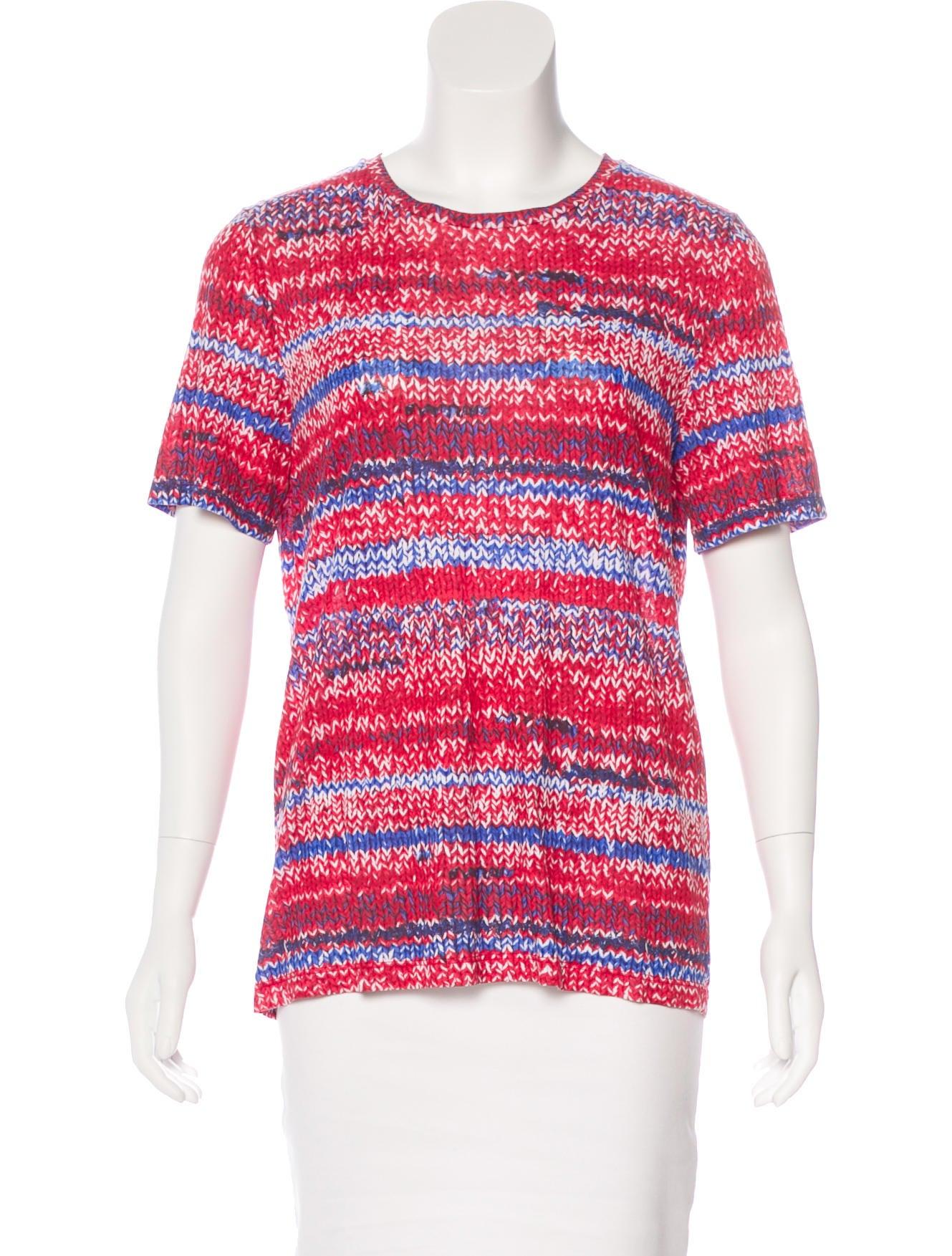 Tory Burch Printed Short Sleeve T Shirt Clothing