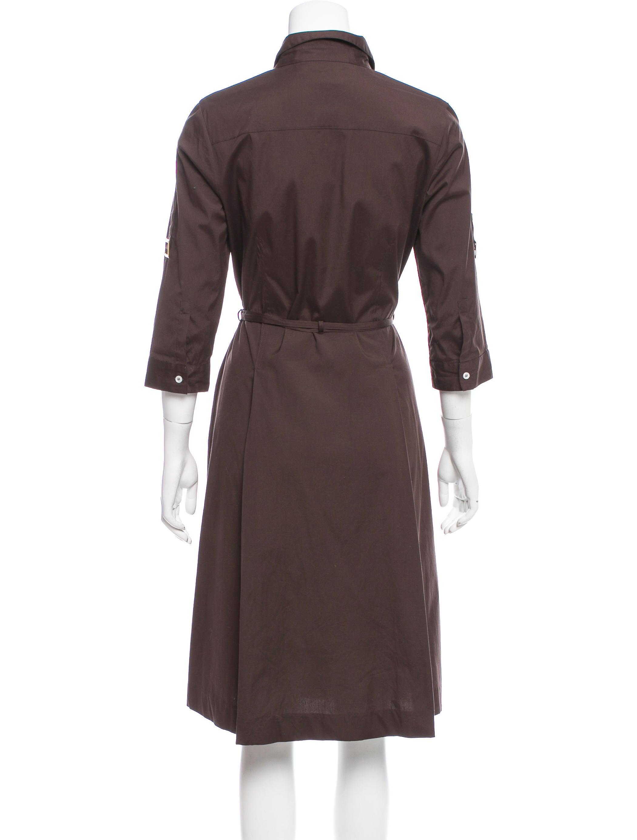 Tory Burch Long Sleeve Shirt Dress Clothing Wto96808