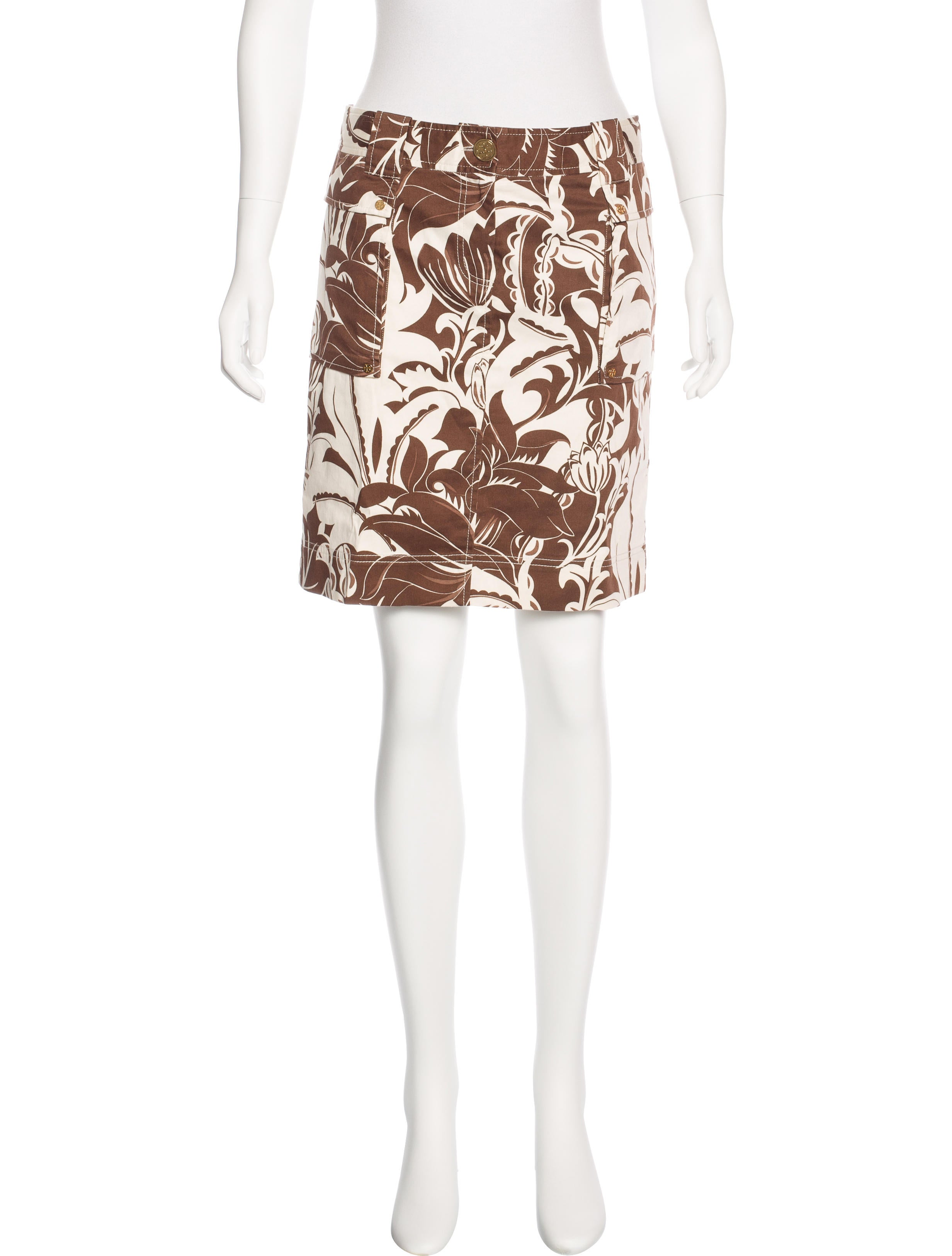 tory burch floral print mini skirt clothing wto96903