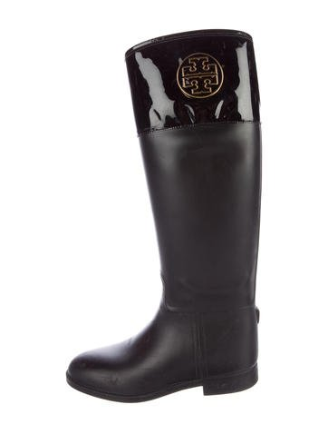 Tory Burch Logo Rain Boots None