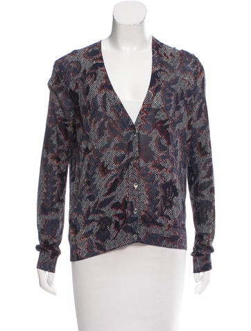 Tory Burch Printed Button Up Cardigan None