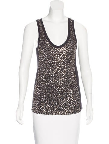 Tory Burch Embellished Sleeveless Top None