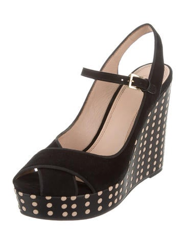 burch polka dot wedge sandals shoes wto99052