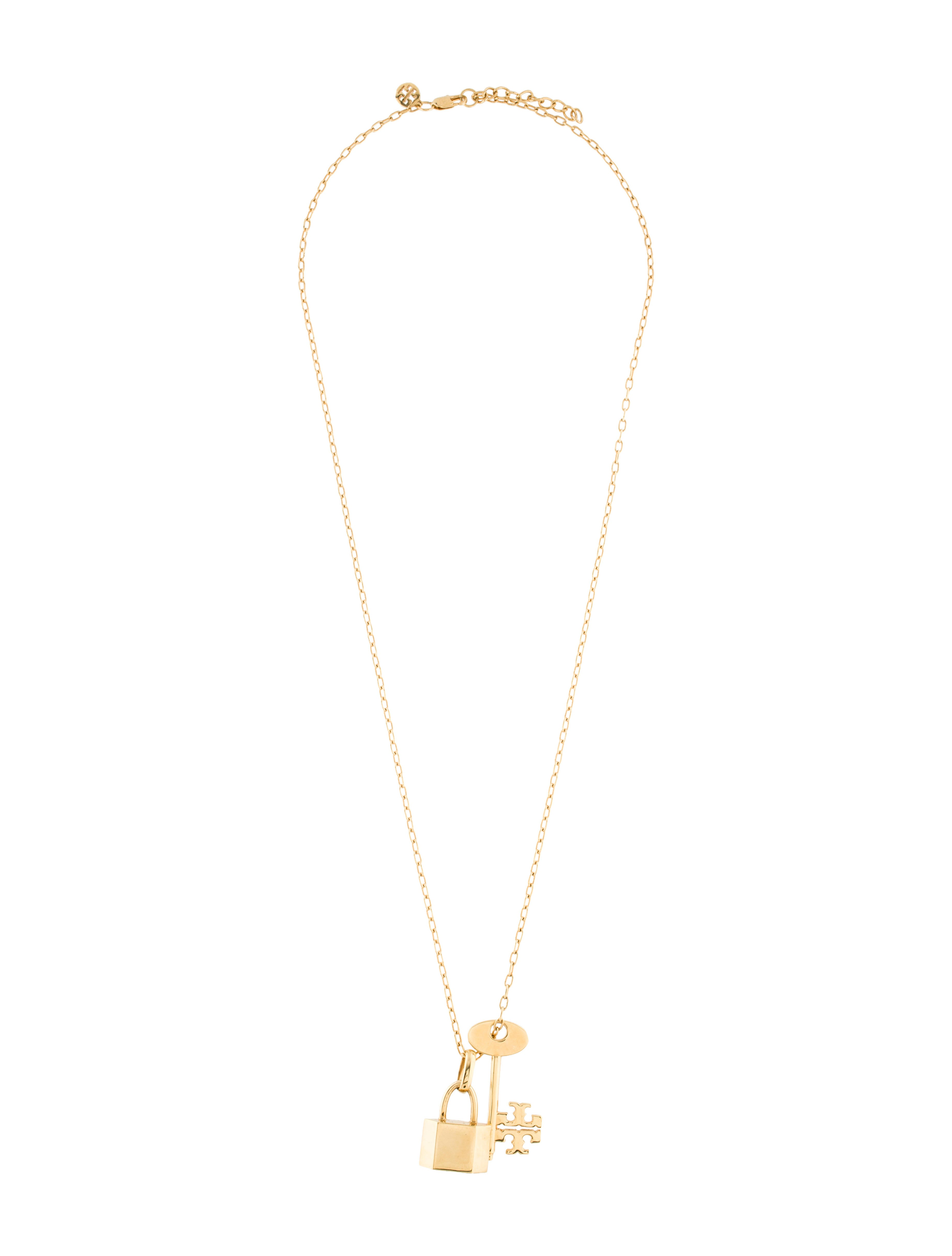 Tory Burch Lock & Key Chain-Link Necklace - Necklaces - WTO99224   The RealReal
