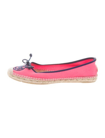 Tory Burch Canvas Espadrille Flats None