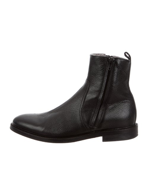 To Boot Leather Ankle Boots black