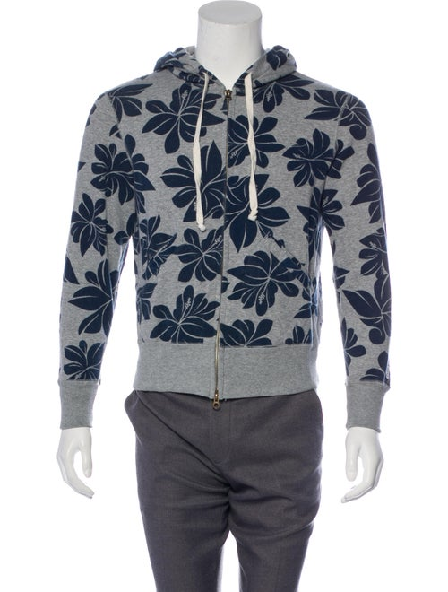 Todd Snyder x Champion Floral Print Zip-Up Sweatsh