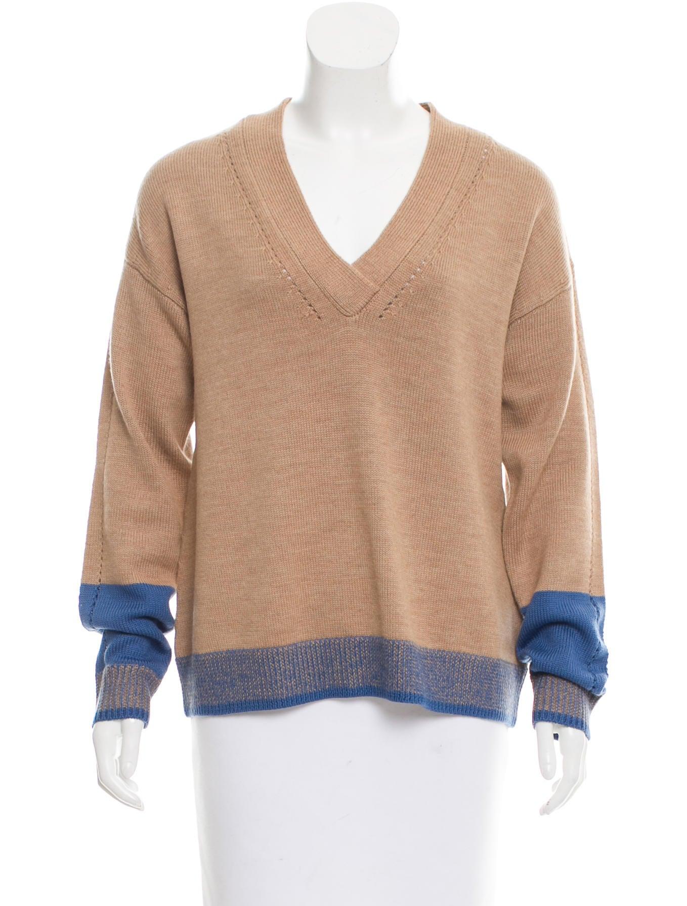 Tome colorblock merino wool sweater clothing for Merino wool shirt womens