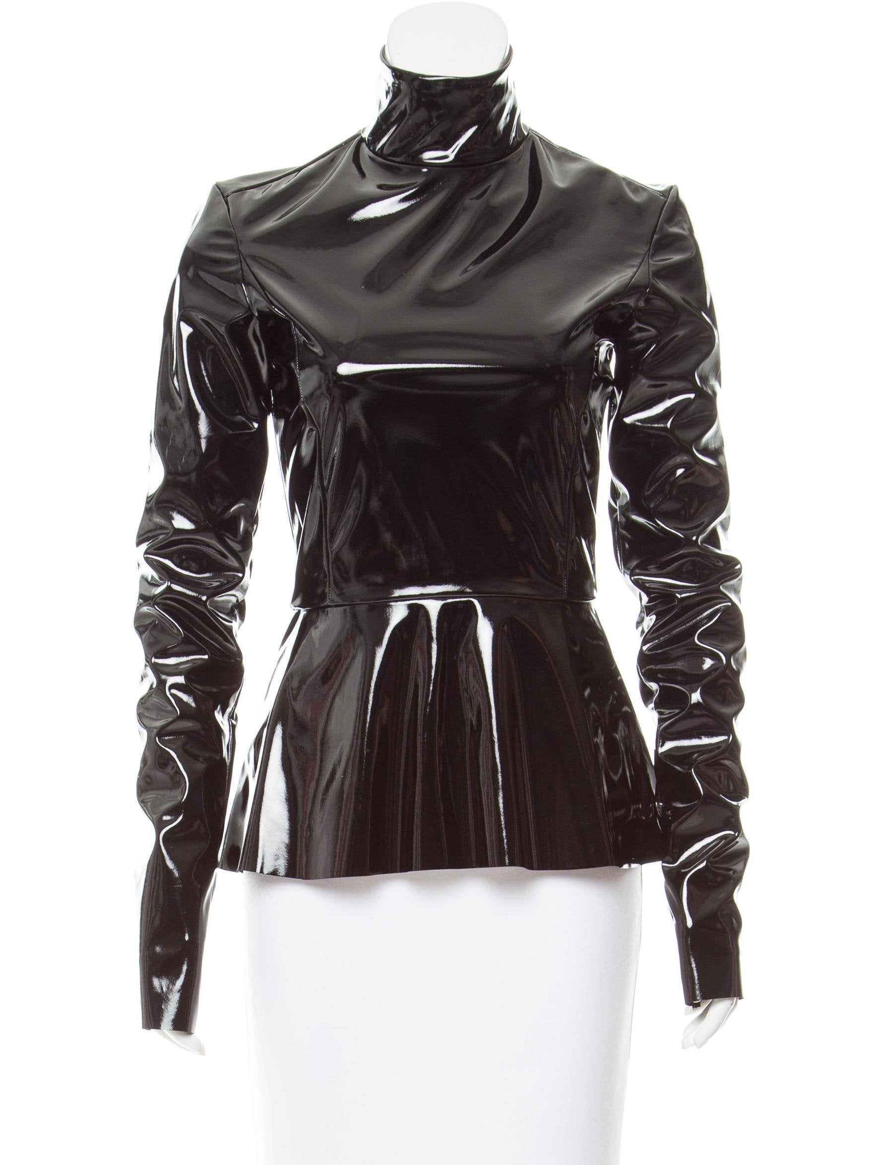 21d75ab75f Tome PVC Peplum Top - Clothing - WTOME21820