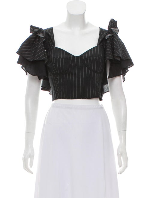 Ruffle Accented Crop Top W/ Tags by Tome
