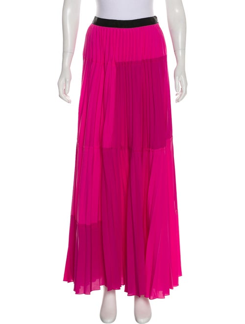 Tome Pleated Maxi Skirt Pink