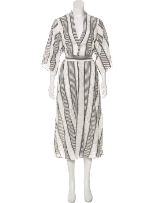 Tome Printed Maxi Dress White